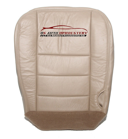02 - Ford F250 F350 F-250 F-350 Lariat  Driver Bottom Leather Seat Cover - TAN . - usautoupholstery