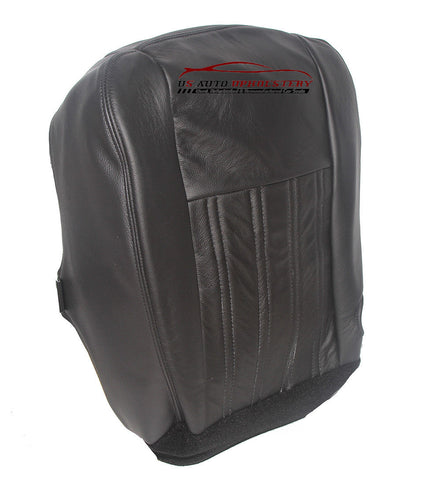2004 04  Ford F350 Harley-Davidson Diesel Driver Bottom Black Leather Seat Cover - usautoupholstery