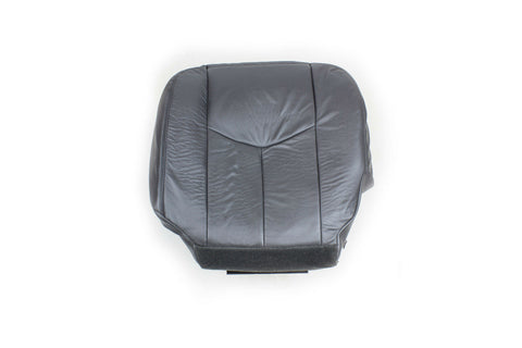03  Chevy Silverado Driver Bottom Leather Seat Cover Dark Pewter Gray - usautoupholstery
