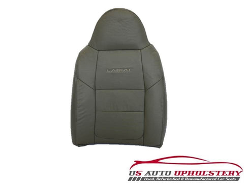 2001 Ford F250 F350 Lariat Perforated LEATHER Driver Lean Back Seat Cover GRAY - usautoupholstery