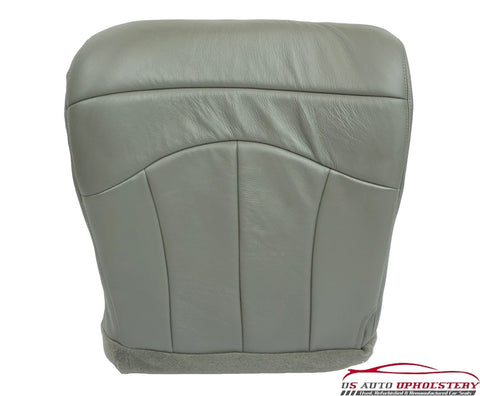 99-00 Ford F-150 Lariat Super-Cab 4x4 4WD *Driver Bottom Leather Seat Cover GRAY - usautoupholstery