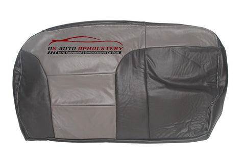 1999 Chevy Tahoe Z71 Second Row Bench 60 Bottom Leather Seat Cover 2-Tone Gray* - usautoupholstery