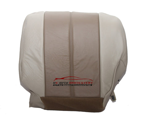 2001 2002 GMC Yukon Denali Passenger SIde Bottom Leather Seat Cover 2 Tone Tan - usautoupholstery