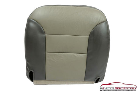2000 Chevy Tahoe (Limited) Driver Side Bottom Leather Seat Cover In 2-Tone Gray - usautoupholstery