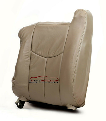 03-07 Chevy Silverado 1500 2500 HD LT -DRIVER Lean Back LEATHER Seat Cover Tan - usautoupholstery