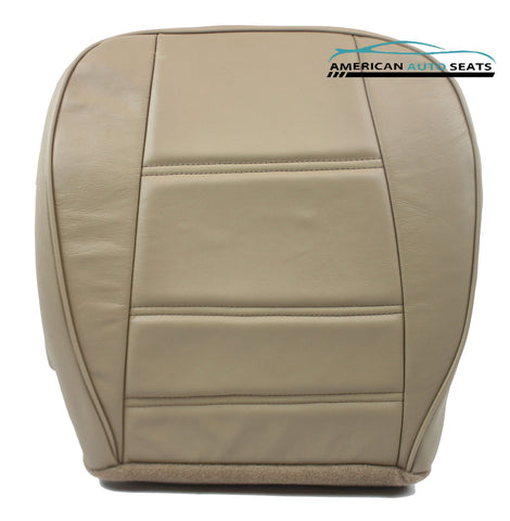 Ford 2001 2002 Mustang V6 Coupe -Passenger Side Bottom Leather Seat Cover Tan - usautoupholstery
