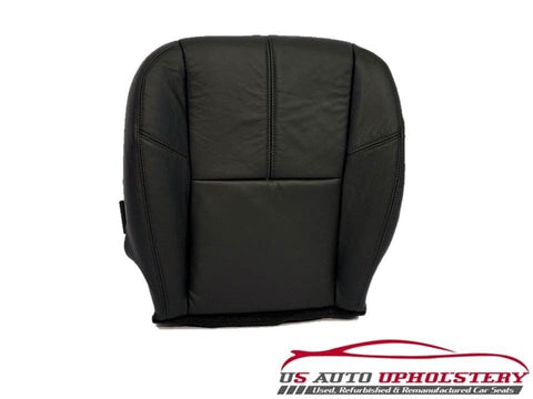 07-13 Sierra 2500HD 6.6L Duramax Turbo Diesel Leather Driver Seat Cover Black - usautoupholstery