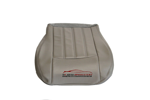 2007 Chrysler 300 Driver Bottom Leather Seat Cover Gray - usautoupholstery