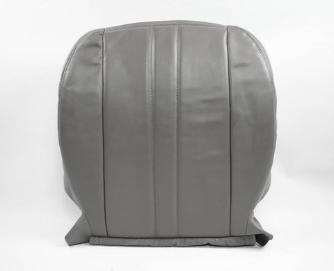 96-02 Chevy 2500 3500 Cargo Van Diesel ~Driver Bottom Vinyl Seat Cover GRAY - usautoupholstery