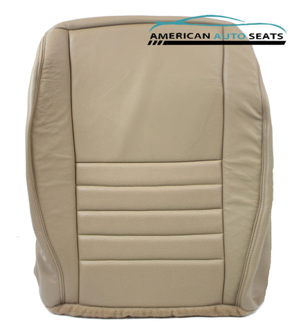 99-04 Ford Mustang GT V8 Coupe -Driver Bottom PERFORATED Leather Seat Cover TAN - usautoupholstery