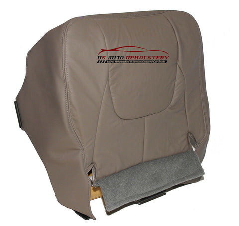 02 03 Dodge Ram Laramie Driver Bottom Synthetic Leather Seat Cover Taupe Gray - usautoupholstery