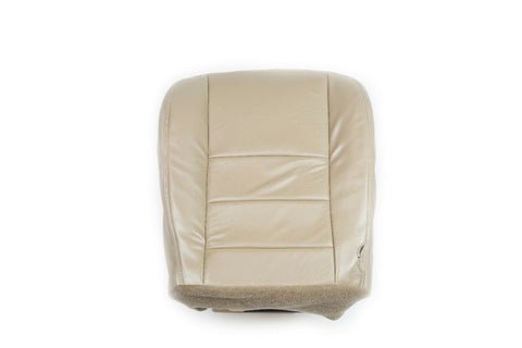 2005-2007 Ford F250 Lariat 4X4 Off-Road Driver Bottom Leather .. Seat Cover TAN - usautoupholstery