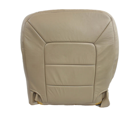 03 Ford Expedition Limited -Driver Side Bottom Leather Seat Cover Tan - usautoupholstery