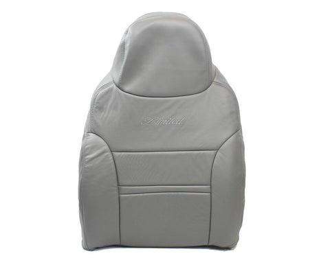 2000 2001 Ford Excursion Limited Driver Side Lean Back Bucket Leather Seat Cover - usautoupholstery