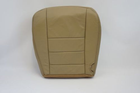 2003-2005 Ford F250 F350 Lariat Driver Side Bottom Leather Seat Cover Tan - usautoupholstery