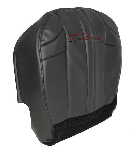 2002-2007 Jeep Cherokee Driver Side Bottom Vinyl Seat Cover Dark Gray Pattern - usautoupholstery