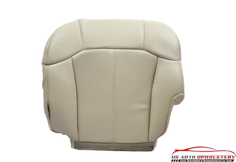 2002 Cadillac Escalade -Driver Side Bottom PERFORATED Leather Seat Cover TAN - usautoupholstery