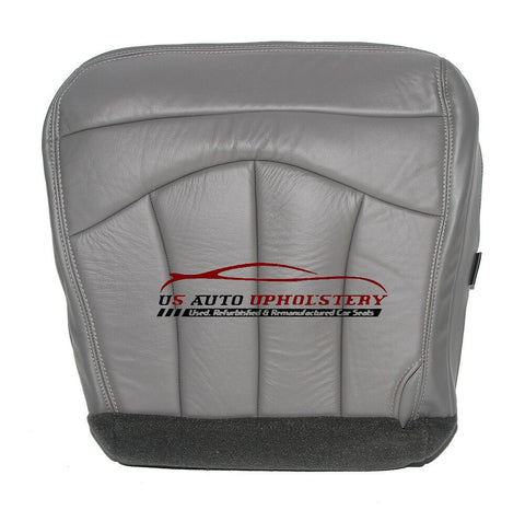 2002 - Ford F-150 Lariat Super F150 Driver Side Bottom Leather Seat Cover GRAY - usautoupholstery