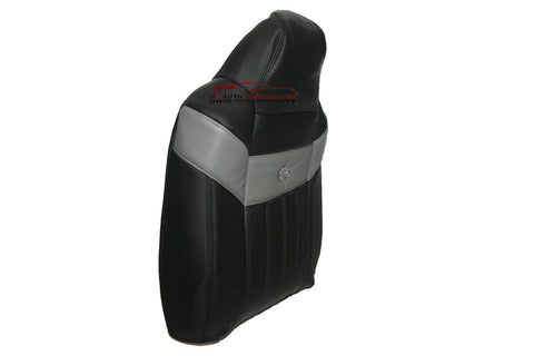 2004 Ford F250 Harley Davidson Driver Side Lean Back Leather Seat Cover BLACK - usautoupholstery