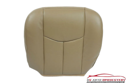 2005 Chevy Silverado Replacement Driver Side Bottom LEATHER Seat Cover - Tan - usautoupholstery