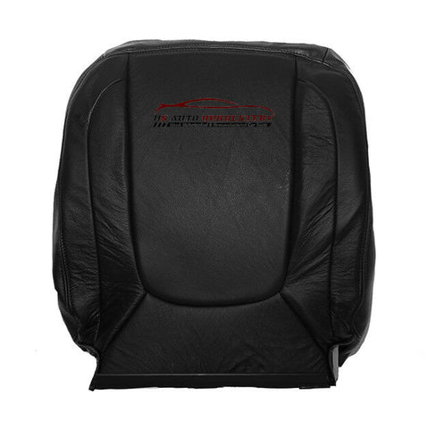 2004 Dodge Ram 2500 Laramie Passenger Lean Back Leather Seat Cover Dark Gray - usautoupholstery