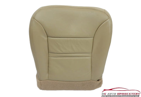 2000 Ford Excursion Limited 4X4 7.3L Diesel Driver Bottom Leather Seat Cover TAN - usautoupholstery