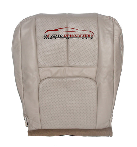 99 Cadillac Escalade Driver Side Bottom PERFORATED Leather Seat Cover Shale - usautoupholstery