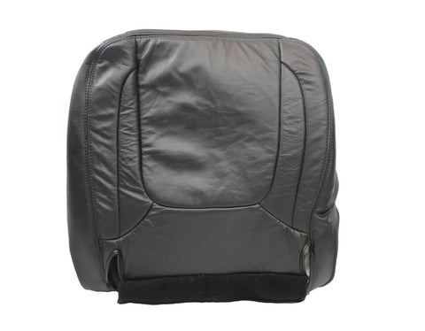 04 2005 Dodge Ram 2500 Laramie DRIVER Side Bottom Leather Seat Cover Dark Gray - usautoupholstery