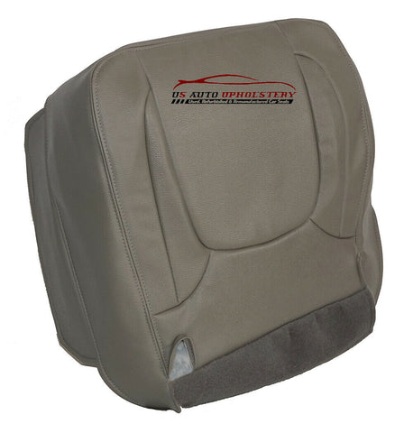 04 05 Dodge Ram 1500 Laramie Passenger Bottom Synthetic Leather Seat Cover Taupe - usautoupholstery