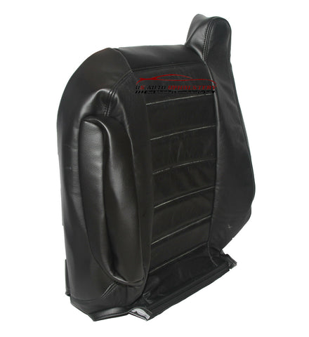 03-07 - Hummer H2 SUV Rims Bose - Driver Lean Back Leather Seat Cover - Black - usautoupholstery