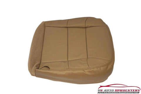 2002 Lincoln Navigator -Driver Side Bottom Replacement LEATHER Seat Cover Tan - usautoupholstery