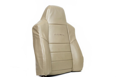 2002 Ford F250 F350 Lariat -Driver PERFORATED Leather Lean Back Seat Cover TAN- - usautoupholstery