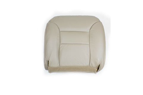 1999 Chevy Suburban LT LS -Driver Side Bottom Replacement Leather Seat Cover Tan - usautoupholstery