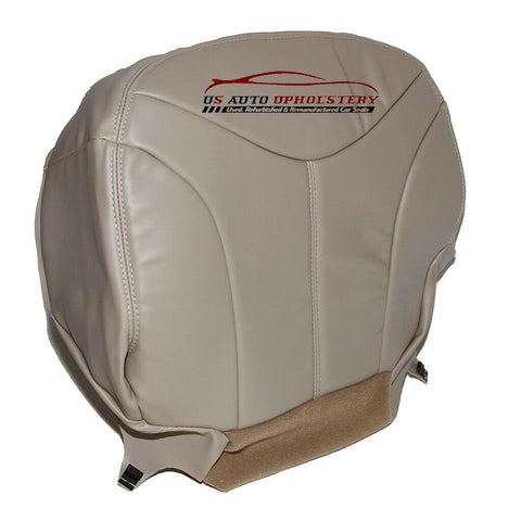 00-02 GMC Yukon SLT Passenger Bottom Replacement LEATHER Seat Cover Shale Tan - usautoupholstery