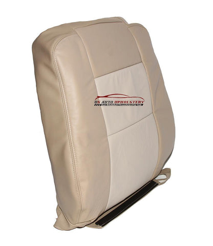 2008 Ford Explorer Eddie Bauer Driver Lean Back Leather Seat Cover 2 Tone Tan - usautoupholstery