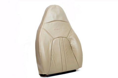 00-02 Ford Expedition Eddie Bauer * Lean Back Bottom Leather Seat Cover TAN * - usautoupholstery