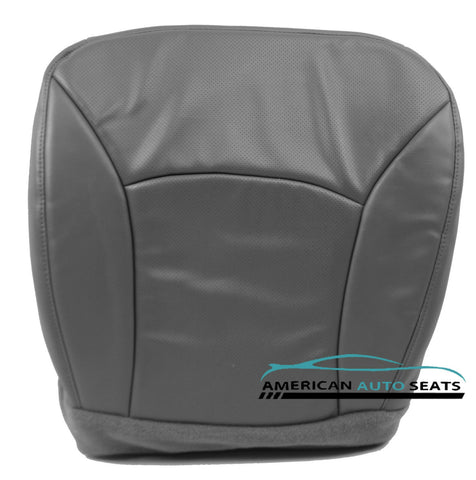 2003 E-Series Econoline Van -Driver Side Bottom Vinyl PERFORATED Seat Cover GRAY - usautoupholstery
