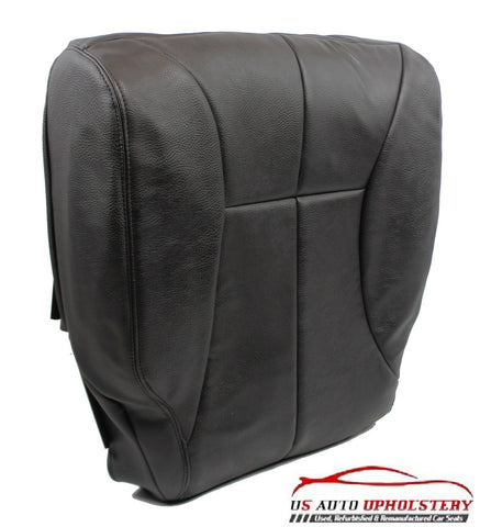 98-02 Dodge Ram -Driver Side Bottom Synthetic Leather Seat Cover DarK GRAY/Black - usautoupholstery
