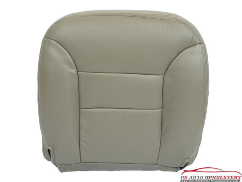 1995-1999 GMC Sierra K3500 SLT Dually Driver Side Bottom Leather Seat Cover Gray - usautoupholstery