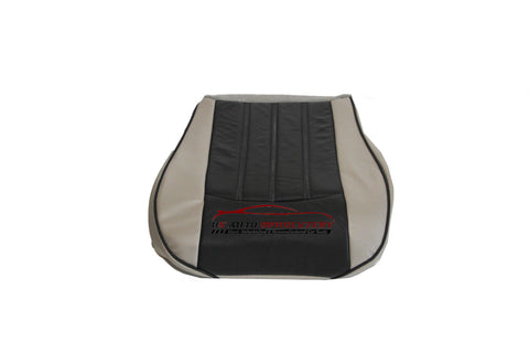 2007 Chrysler 200 300 Driver Side Bottom Leather Seat Cover 2 Tone Gray / Black - usautoupholstery