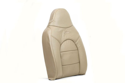 1999 Ford F350 Lariat Passenger Lean Back Replacement Leather Seat Cover TAN - usautoupholstery