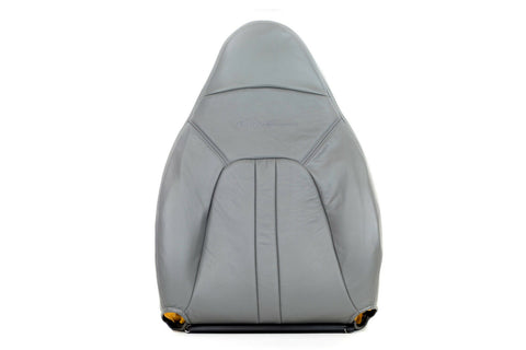 2000-2002 Ford Expedition XLT Leather Driver Lean Back Leather Seat Cover Gray - usautoupholstery