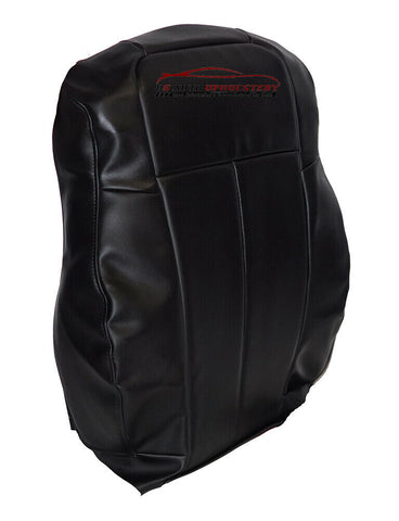 05 06 07 08 Chrysler 300 200 Driver Lean Back Synthetic Leather Seat Cover Black - usautoupholstery