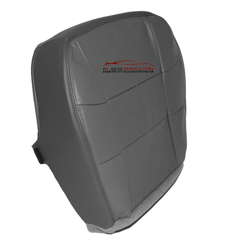 1998 Lincoln Navigator Driver Side Bottom LEATHER Seat Cover Gray - usautoupholstery