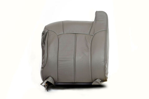 1999 Chevy Silverado -Driver Side LEAN BACK Replacement Leather Seat Cover GRAY - usautoupholstery