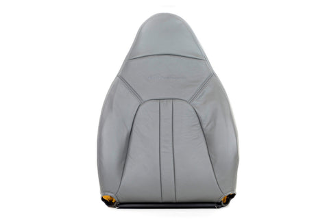 Leather Driver Lean Back 2000-2002 Ford Expedition XLT Leather Seat Cover Gray - usautoupholstery