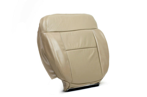 2008 Ford F150 Lariat -Driver Side Bottom Replacement Leather Seat Cover Tan- - usautoupholstery