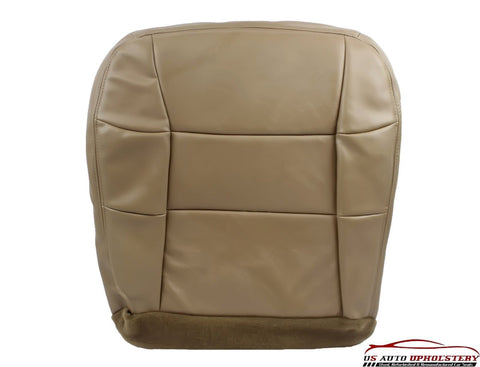 2001 Lincoln Navigator -Driver Side Bottom Replacement LEATHER Seat Cover Tan - usautoupholstery