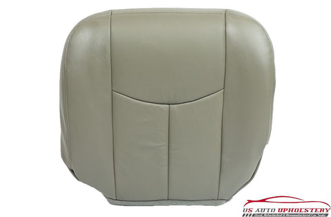 03-06 Chevy Avalanche 1500 2WD LT Z66 LS Driver Bottom Leather Seat Cover Gray - usautoupholstery