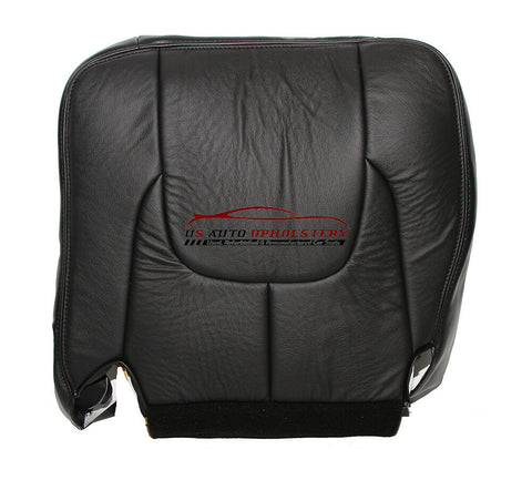 03 Dodge Ram 3500 Laramie DRIVER Side Bottom Leather Seat Cover Dark Gray - usautoupholstery